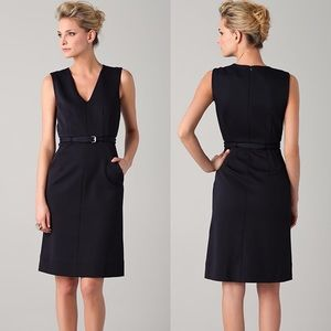 Diane von Furstenberg Nula Belted Black Dress